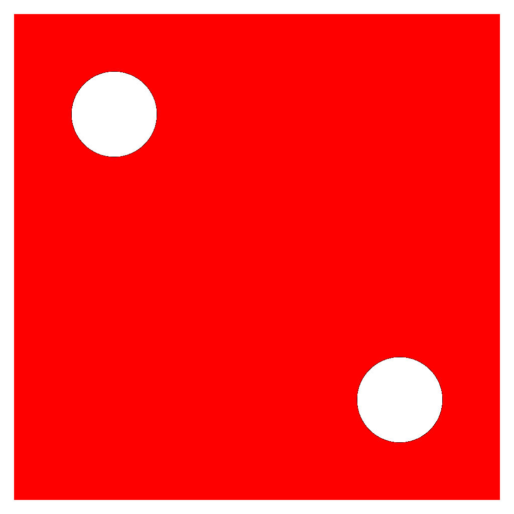 Red Die 2 SVG Clip arts