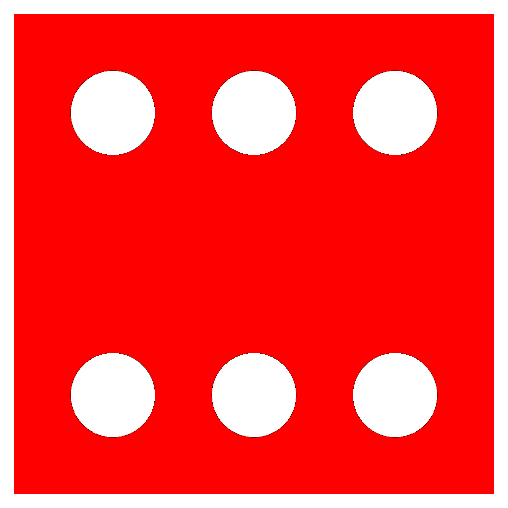 Red Die 6 SVG Clip arts