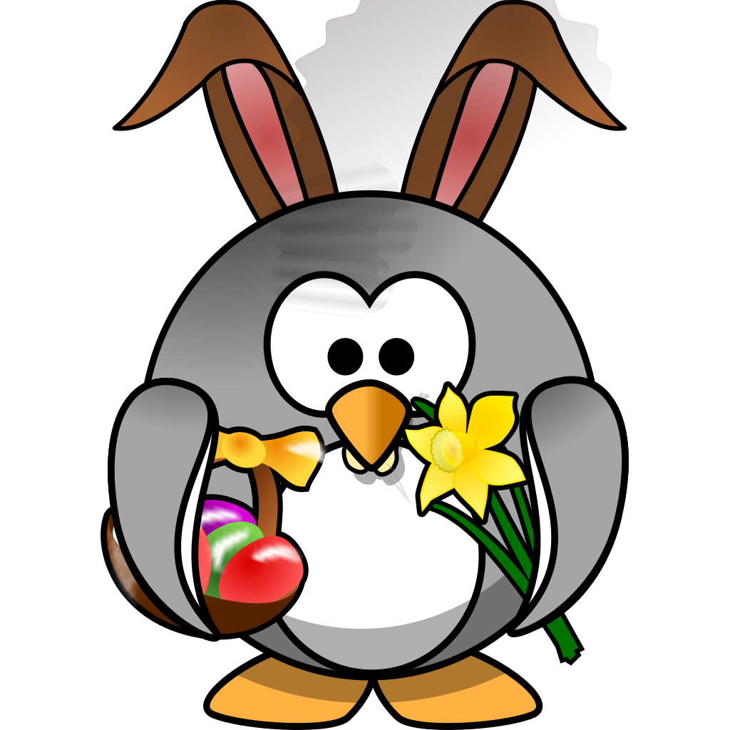 Easter Penguin SVG Clip arts