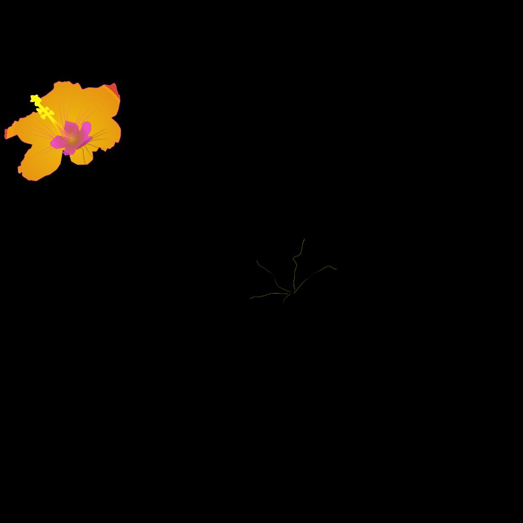 Hibiscus 27 SVG Clip arts