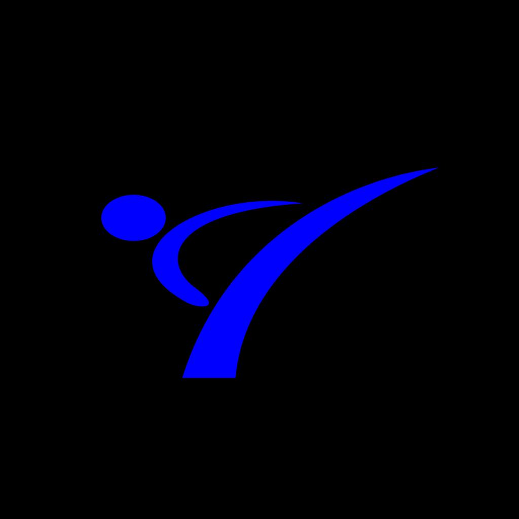 Karate Blue SVG Clip arts