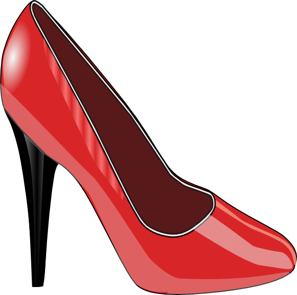 Red Shoe SVG Clip arts