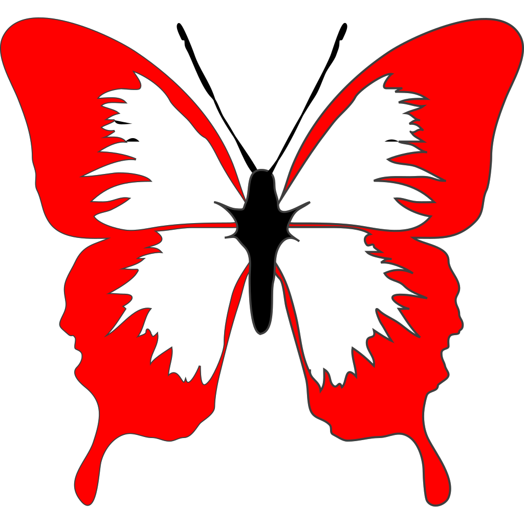 Red Butterfly SVG Clip arts