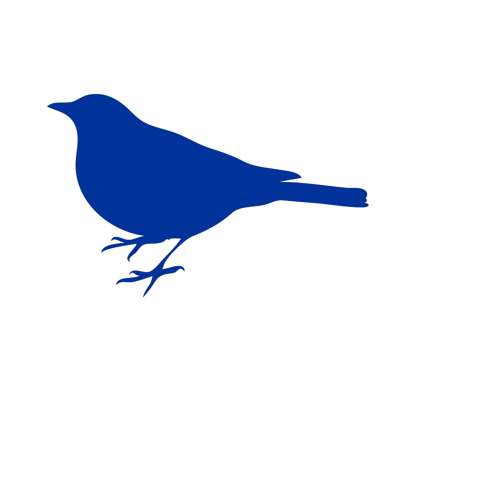 Blue Love Bird SVG Clip arts