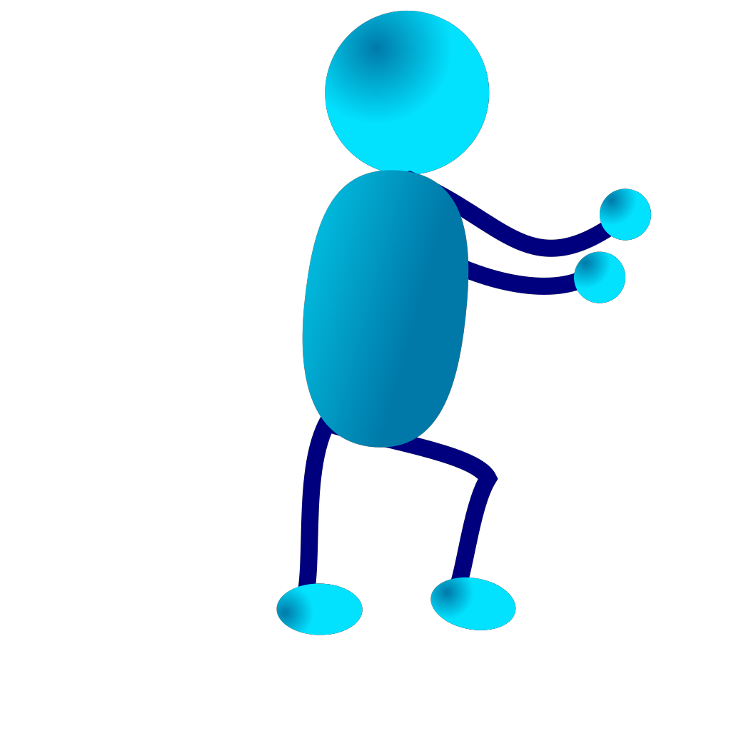 Blue Man SVG Clip arts