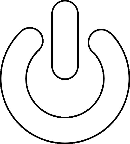 Blue Power Button SVG Clip arts