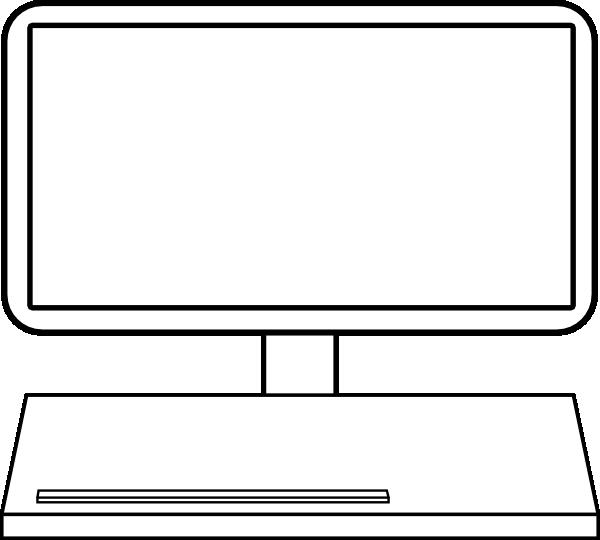 Lcd Monitor 1 SVG Clip arts