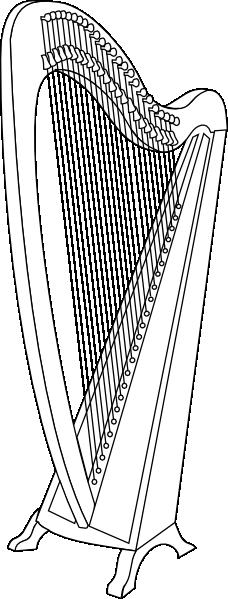 Classical Harp SVG Clip arts