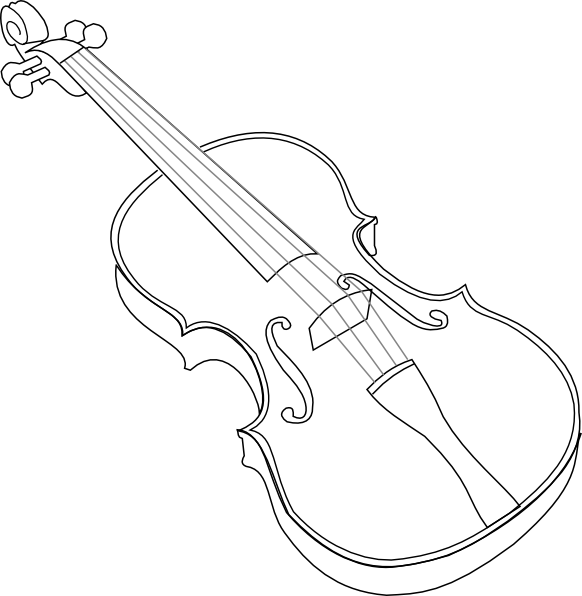Brown Violin SVG Clip arts