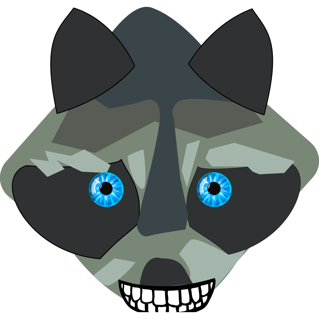 Raccon Closed Mouth SVG Clip arts