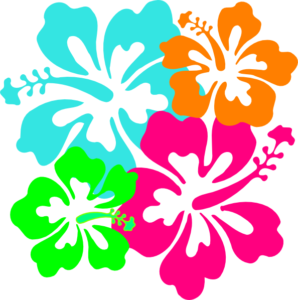 Hibiscus Birds Branch SVG Clip arts