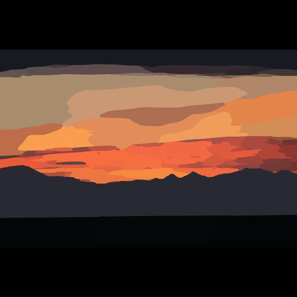 Sunset Gradient SVG Clip arts