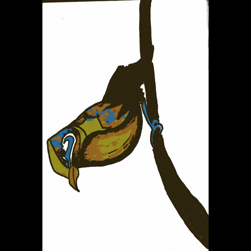 Bird Sitting On Branch SVG Clip arts