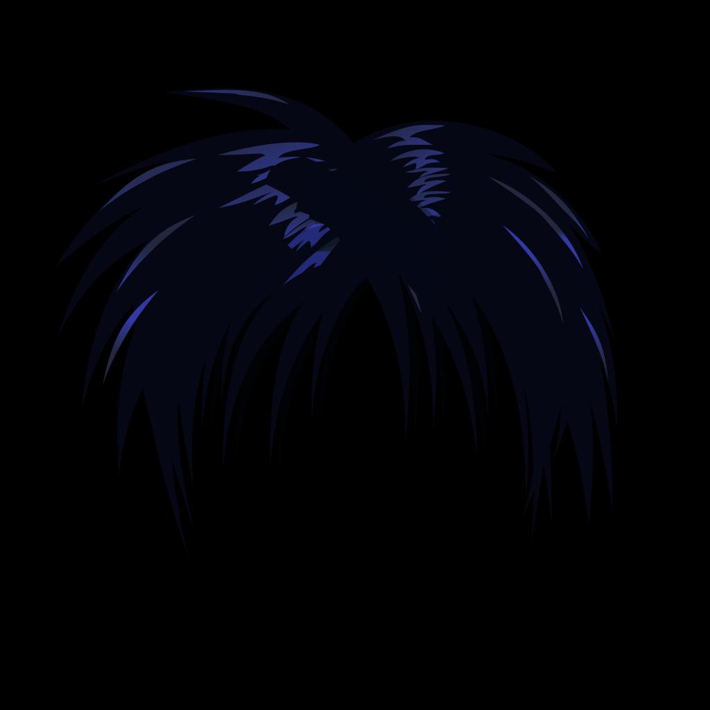 Anime Hair SVG Clip arts