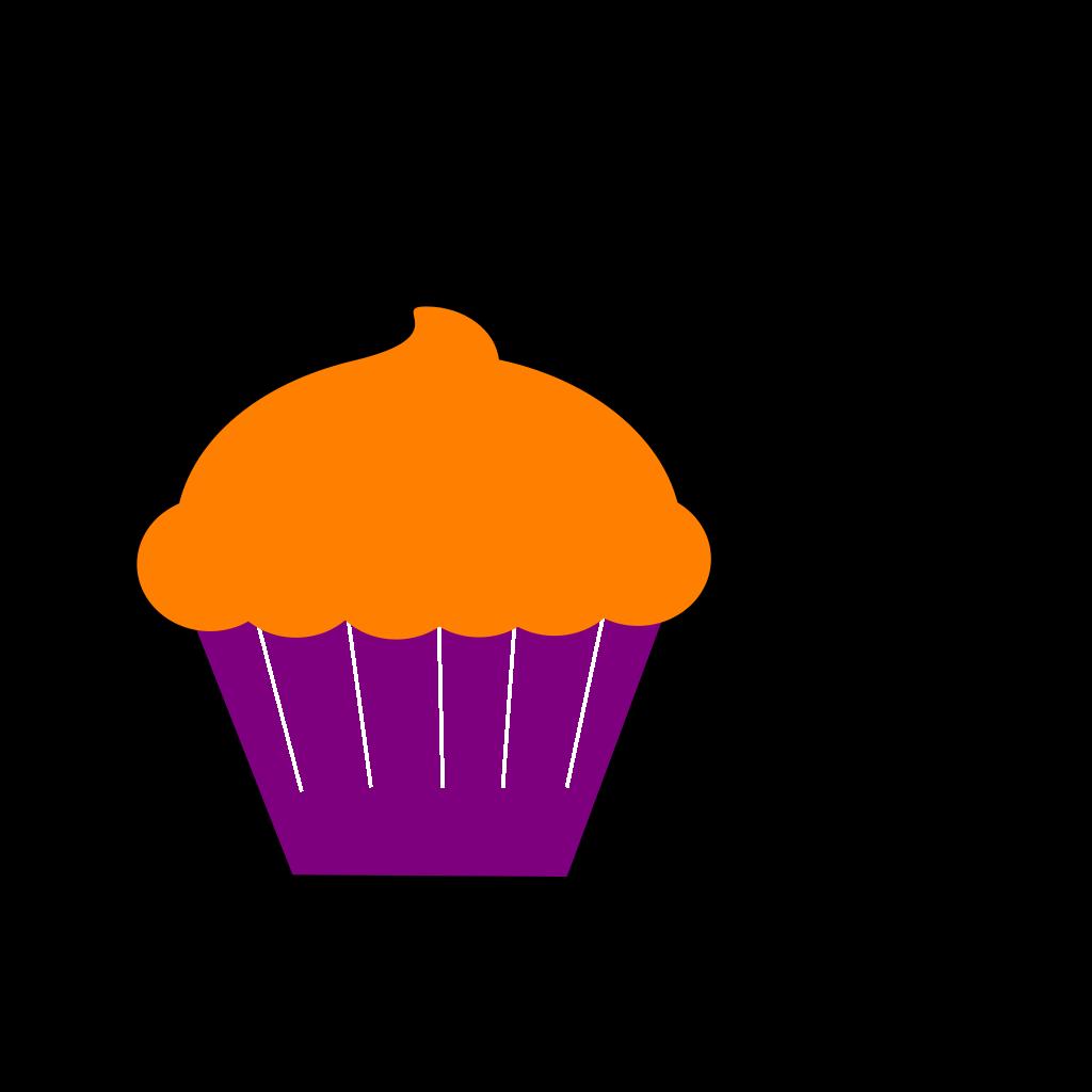 Cupcake Blue Flower SVG Clip arts
