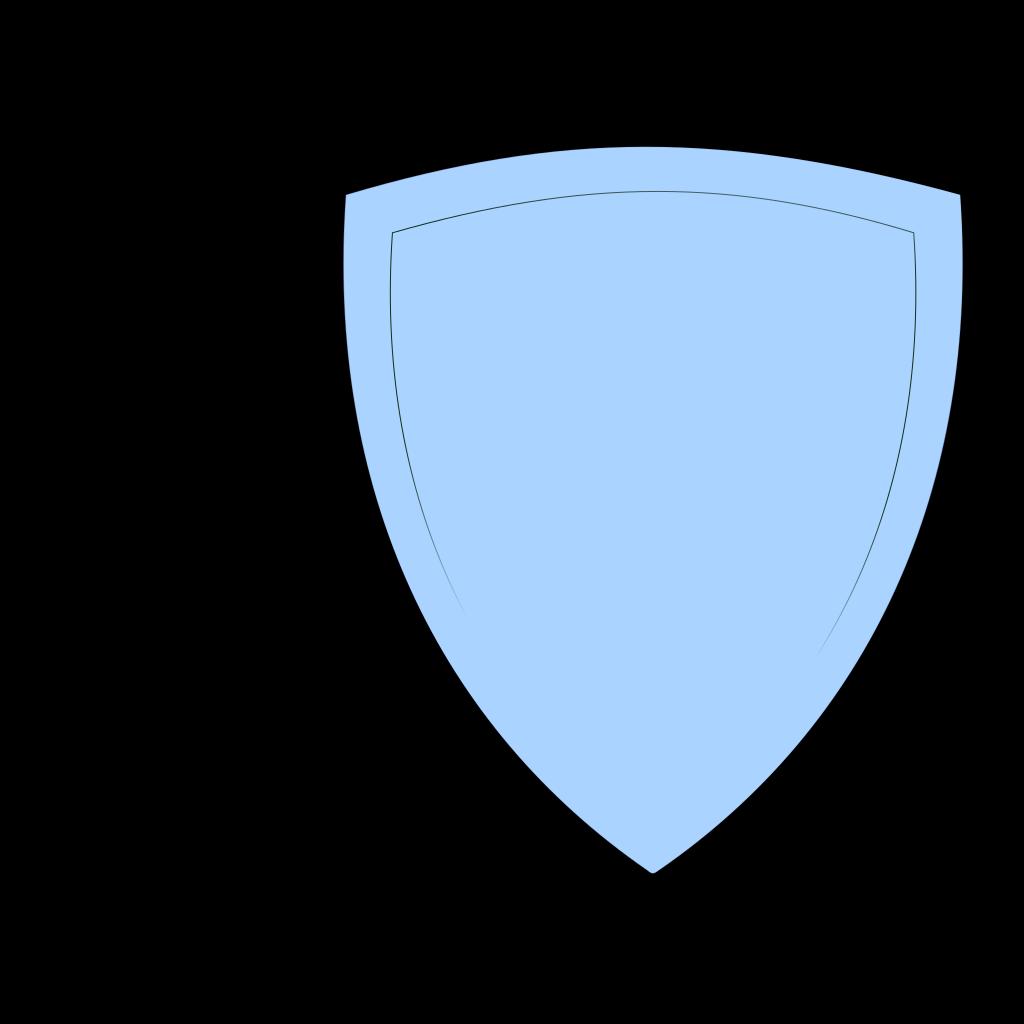 Shield, Light Blue SVG Clip arts