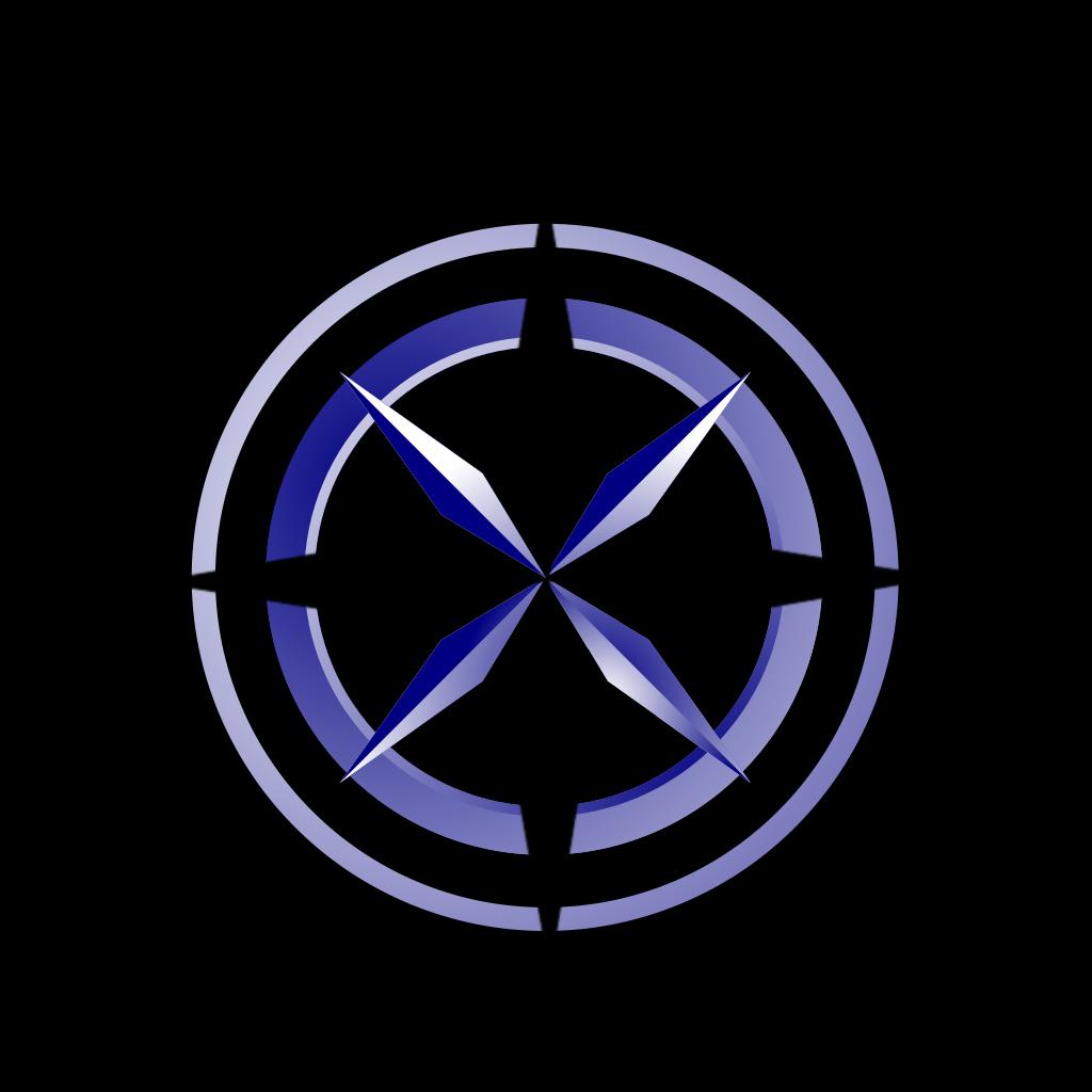 Compass Blue/brown SVG Clip arts
