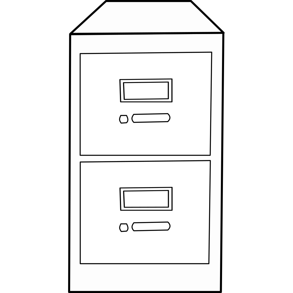 Vertical File Cabinet SVG Clip arts