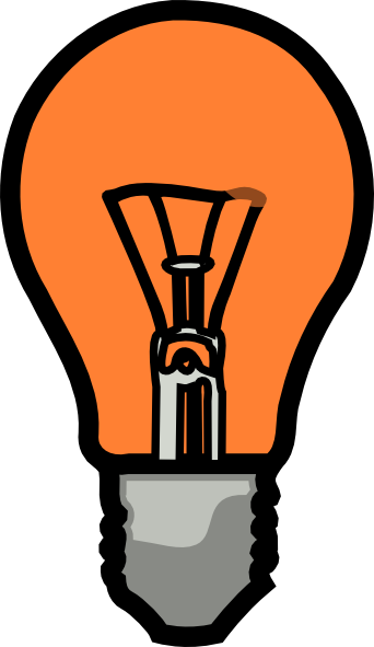 Light Bulb SVG Clip arts