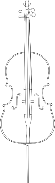 Cello SVG Clip arts