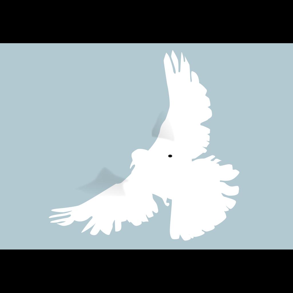White Dove SVG Clip arts