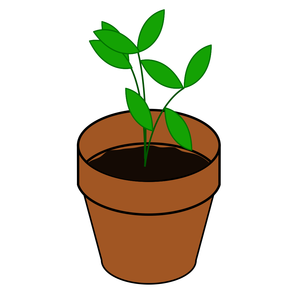 Plant In Pot SVG Clip arts