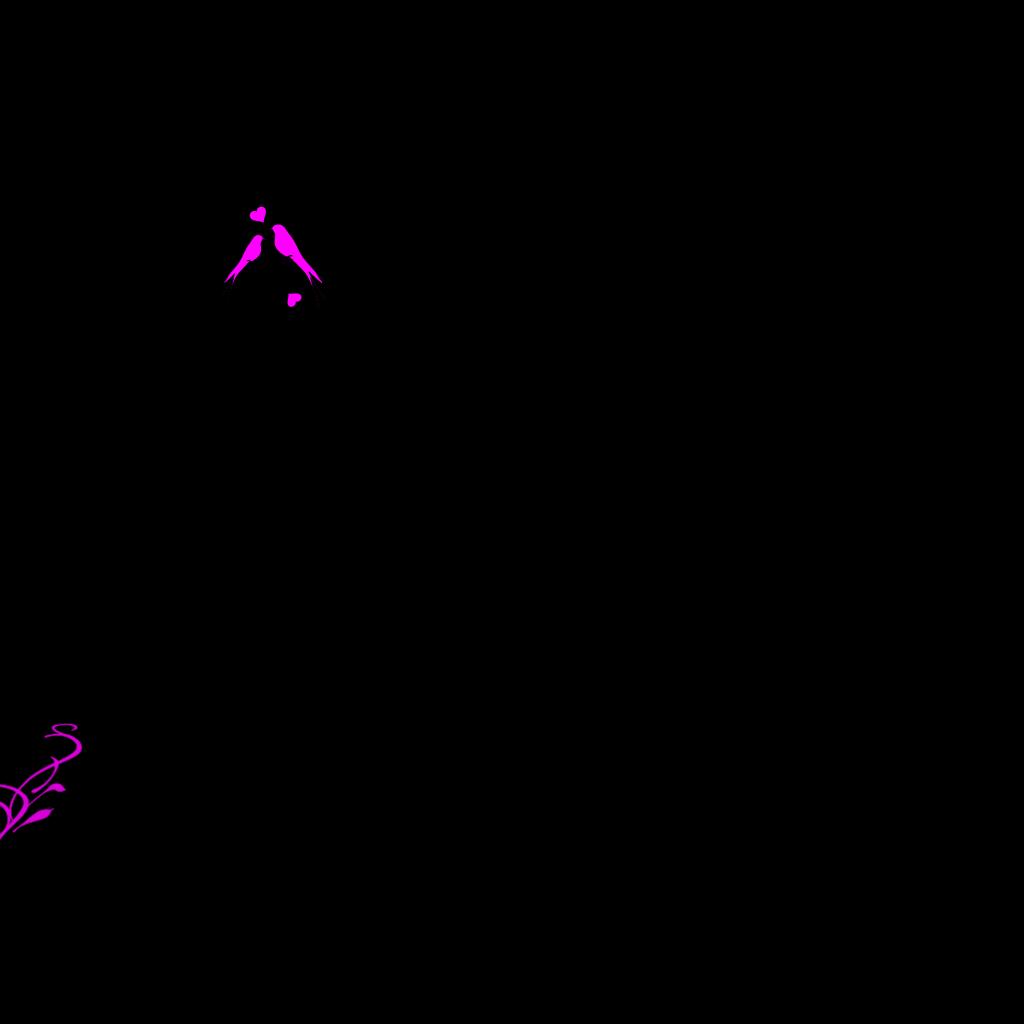 Birds On A Branch Pink SVG Clip arts