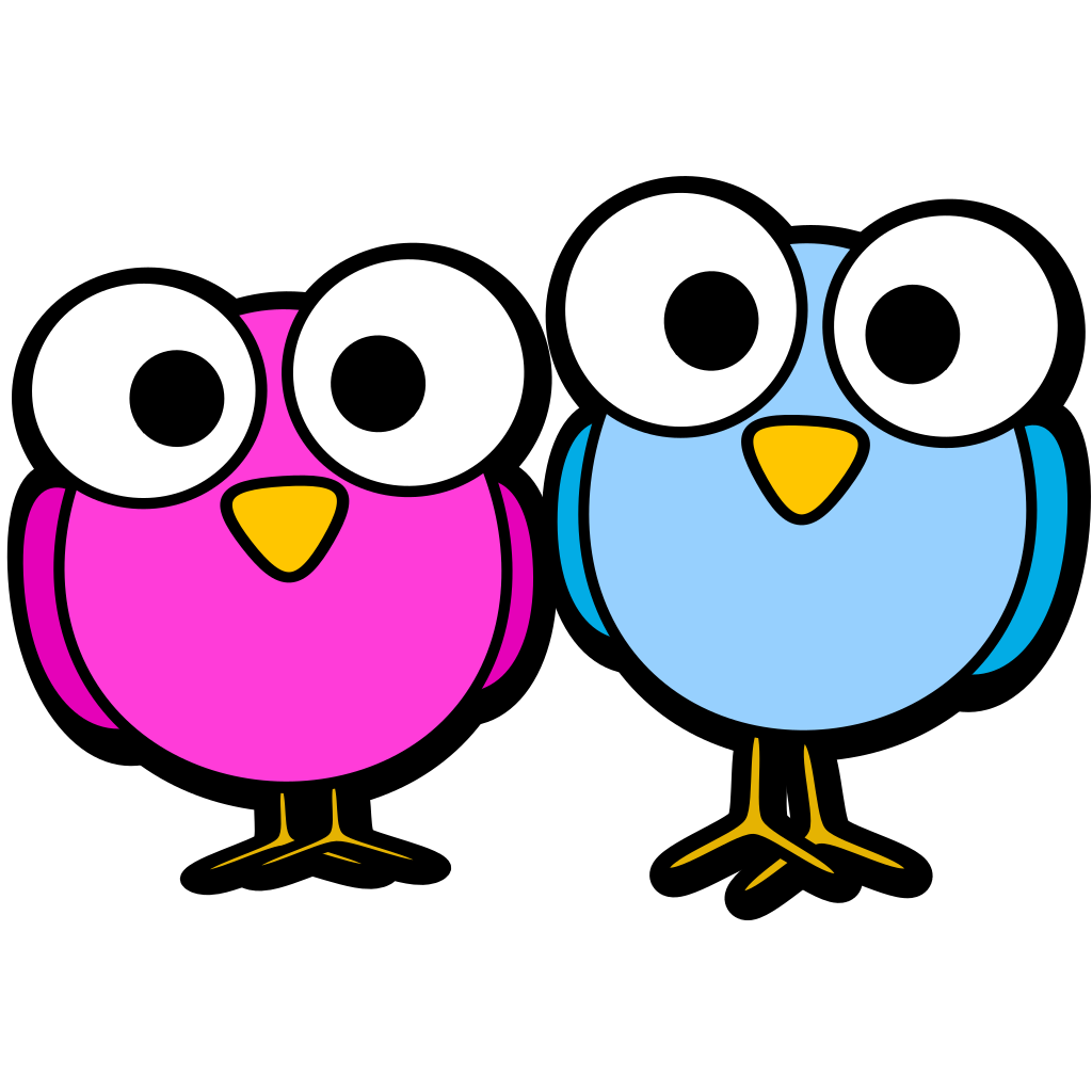 Googley Eye Birdies SVG Clip arts