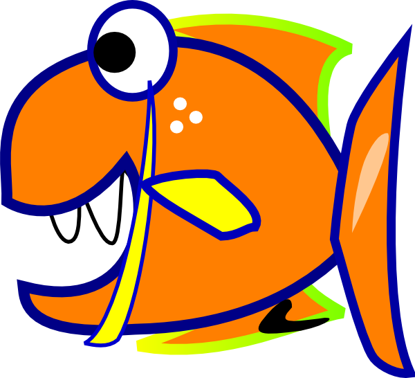 Edited Orange Fish SVG Clip arts