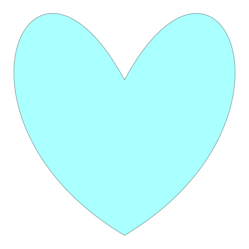 Light Blue Heart SVG Clip arts