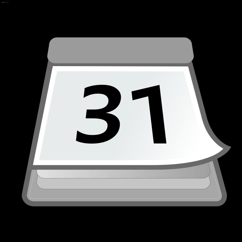 Office Calendar SVG Clip arts
