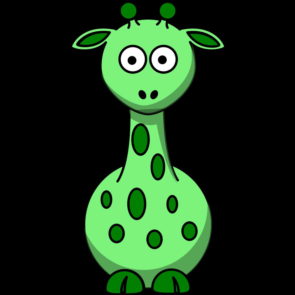 Green Giraffe With 12 Dots SVG Clip arts