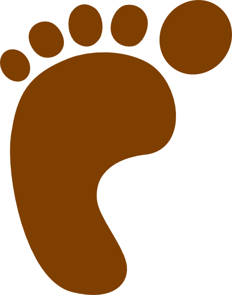 Foot Print SVG Clip arts