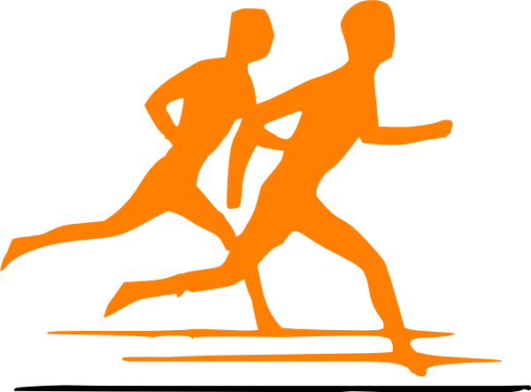 Jogging Boy SVG Clip arts