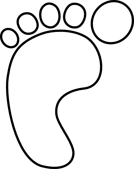 Left Foot Print SVG Clip arts
