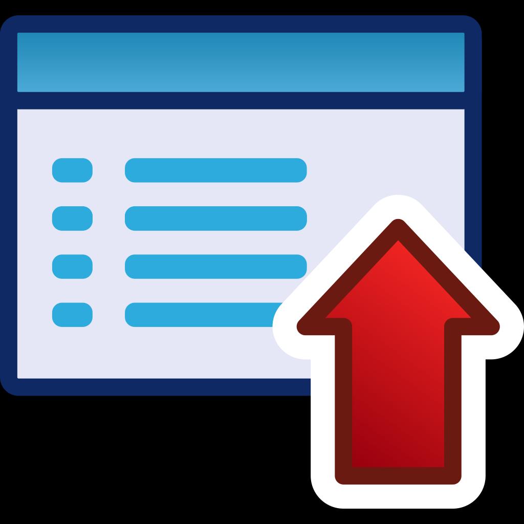 Red Menu Icon Set Up SVG Clip arts