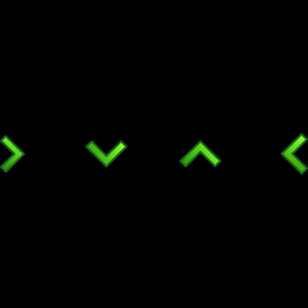 Green Single Arrow Set SVG Clip arts