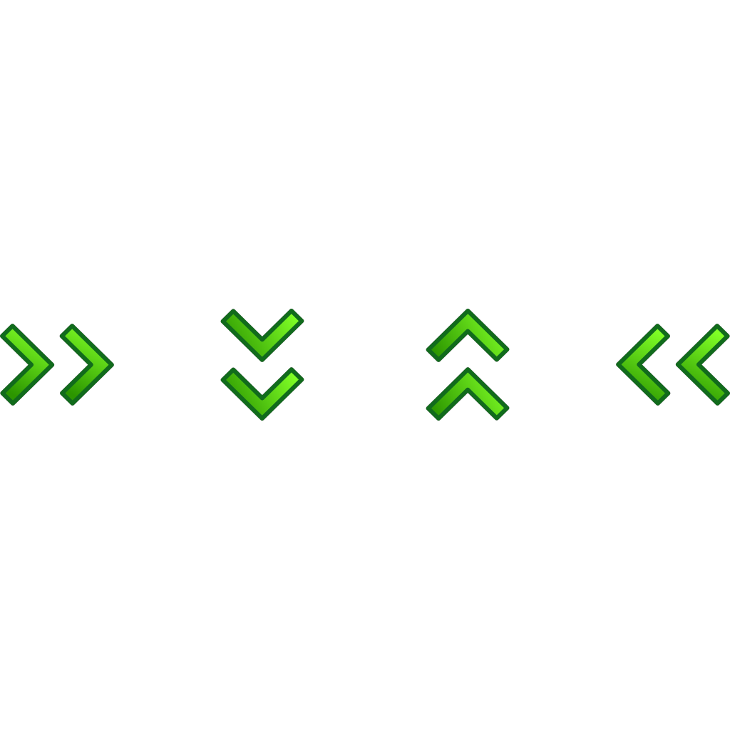 Green Double Arrows Set SVG Clip arts