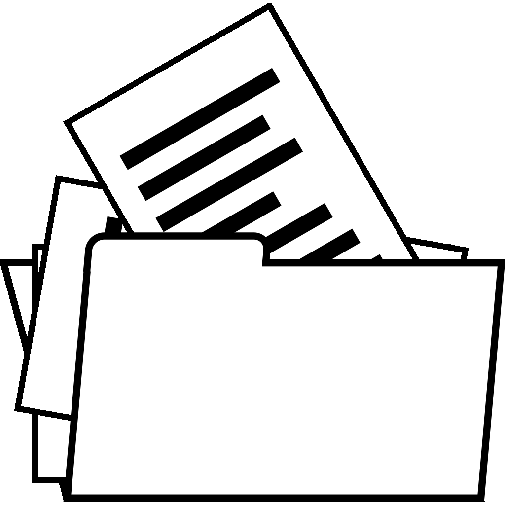 Open Folder Document SVG Clip arts