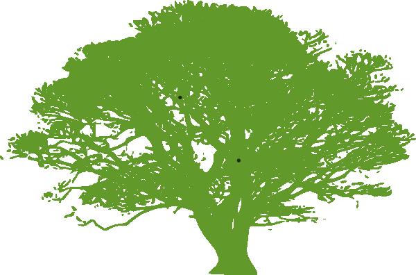 Gradient Green Tree SVG Clip arts
