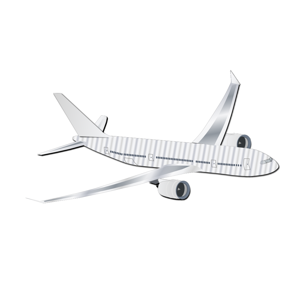Plane Silhouet SVG Clip arts