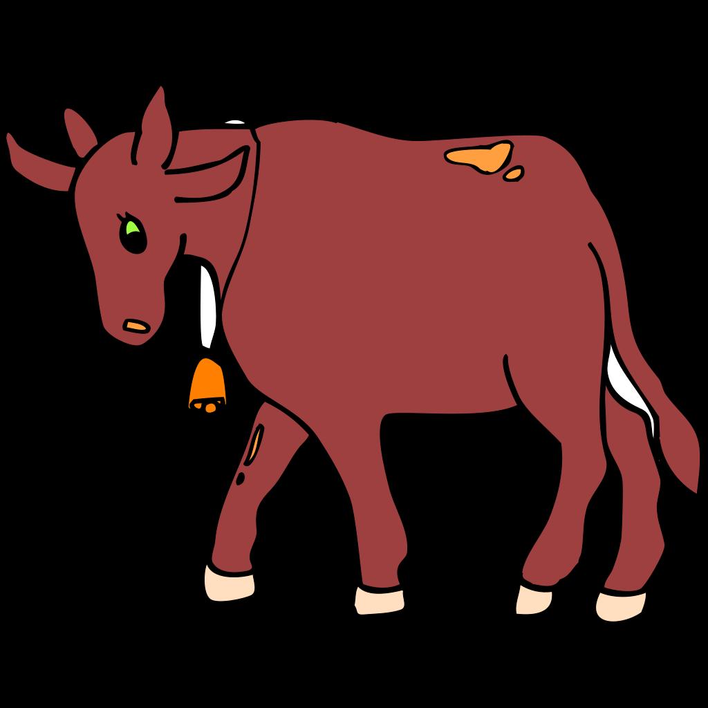 Walking Cow SVG Clip arts
