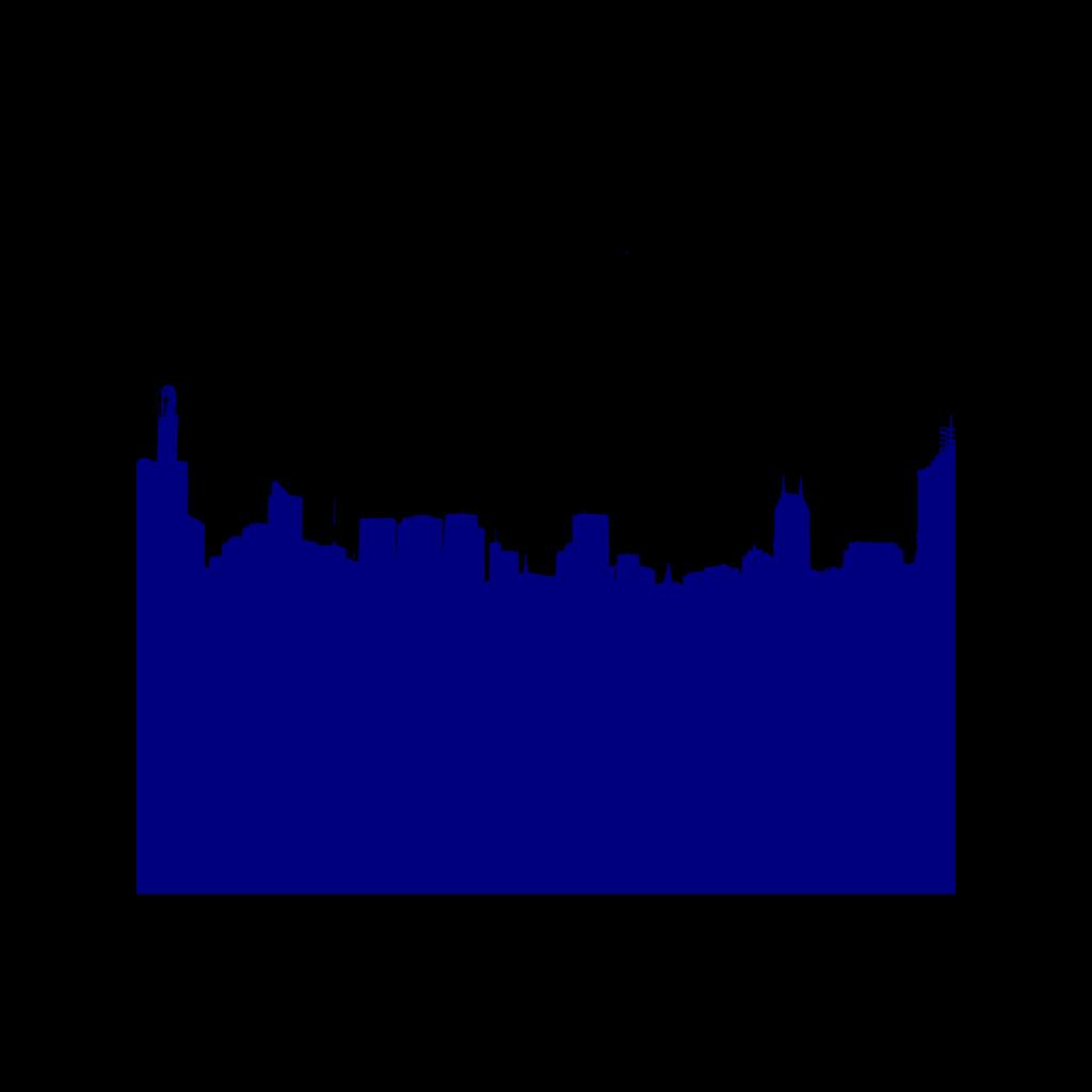 Dark Blue Skyline SVG Clip arts