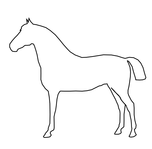 Jumping Horse Outline SVG Clip arts