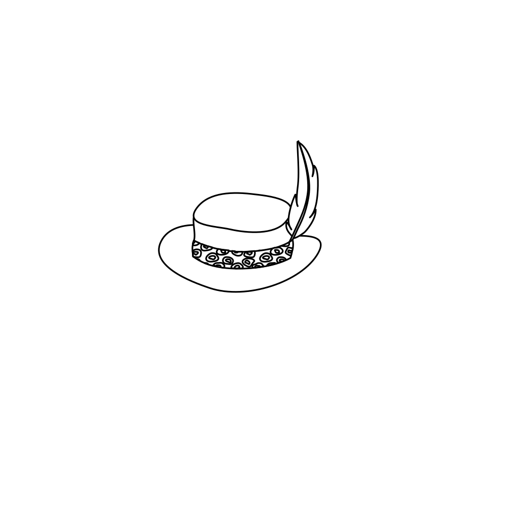 Hat Outline SVG Clip arts