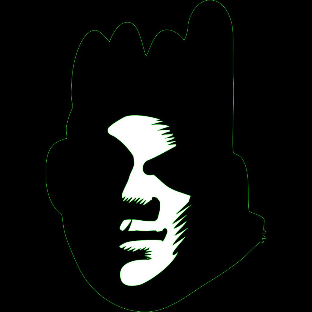 Black Face SVG Clip arts