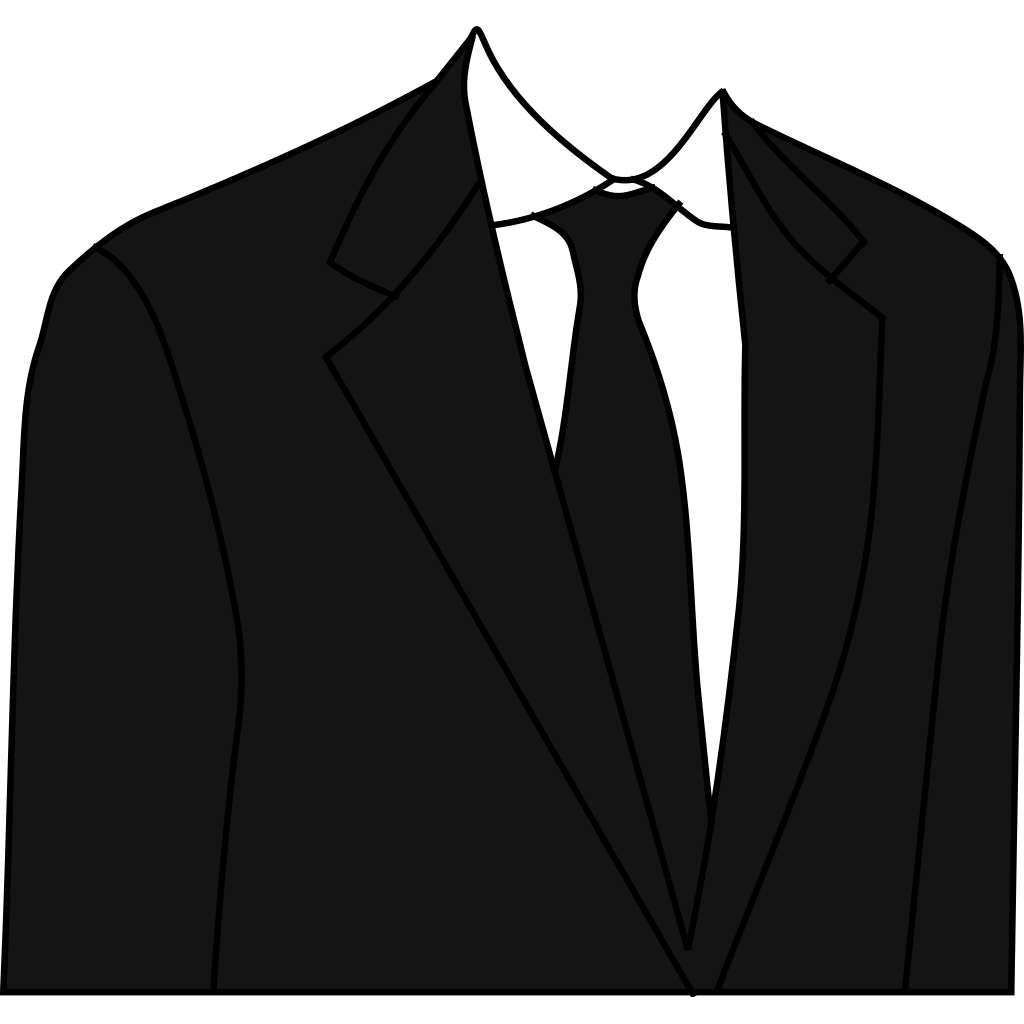 Black Suit SVG Clip arts