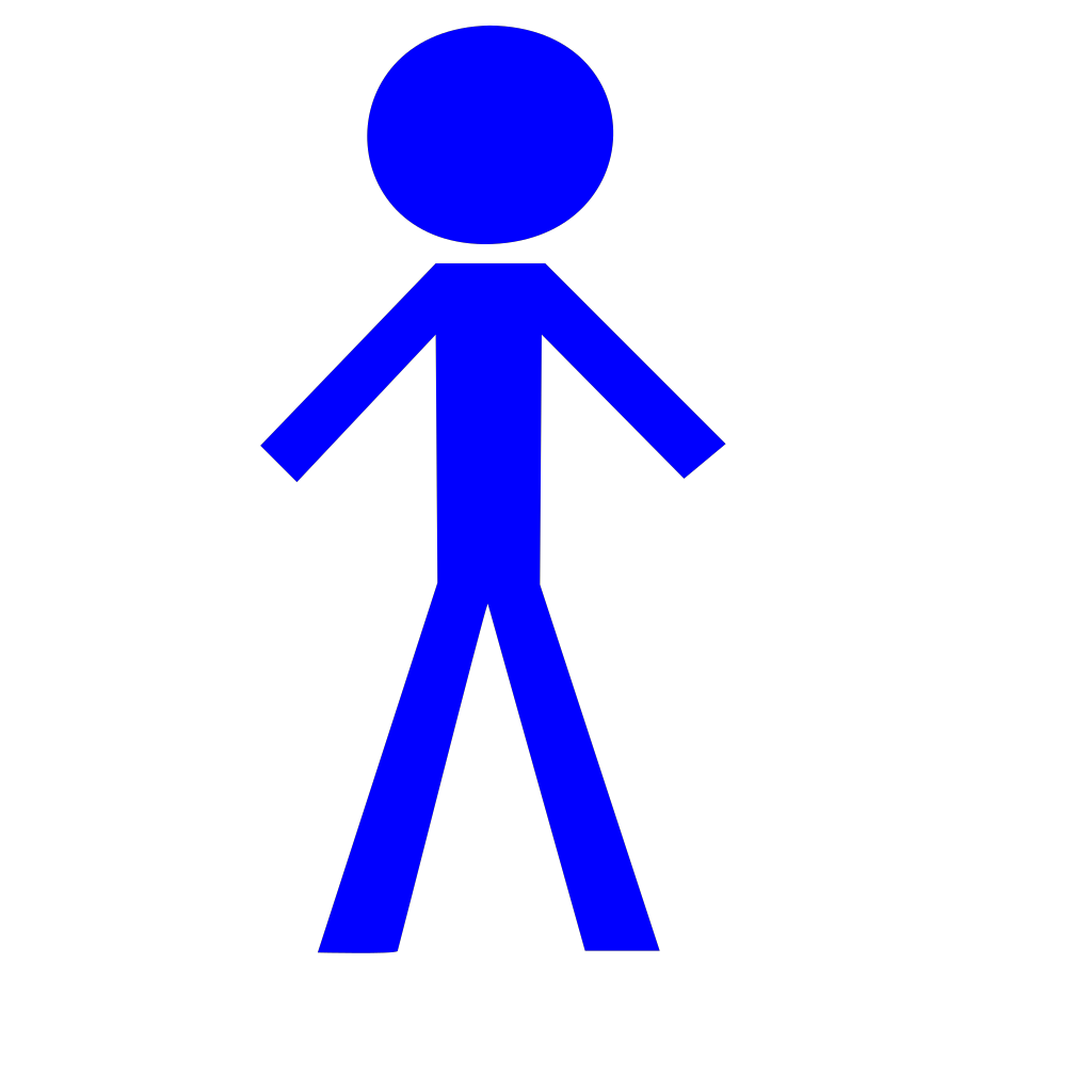 Stick Person Blue SVG Clip arts
