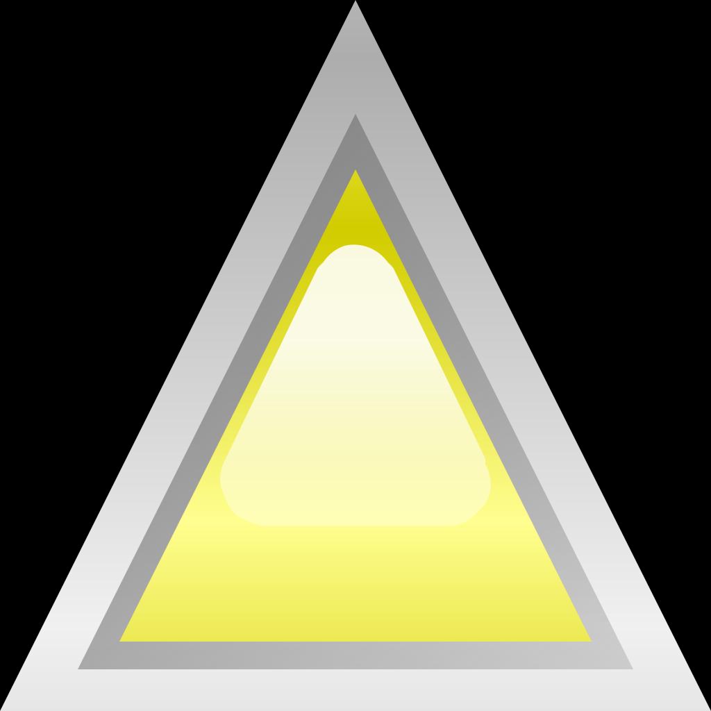 Led Triangular Yellow SVG Clip arts