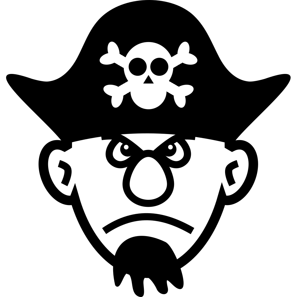 Angry Young Pirate SVG Clip arts